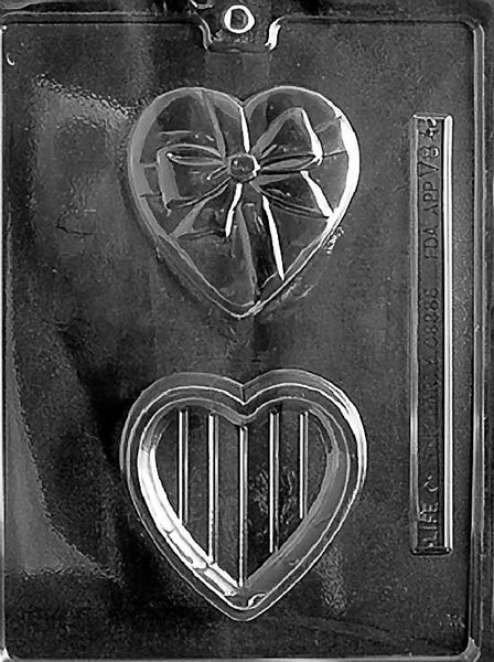HEART POUR BOX WITH BOW Chocolate Mold (5914134983)
