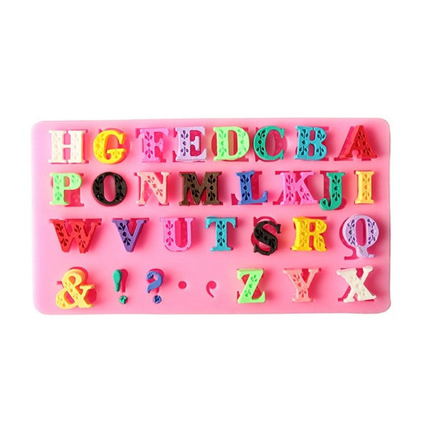 Fancy Alphabet Silicone Mold (5341583943)