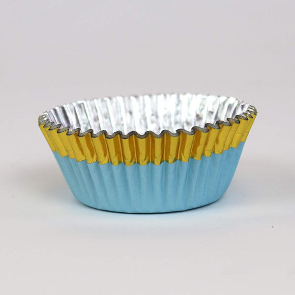 Blue with Gold Foil Trim Standard Baking Cups