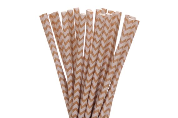 Chevron Craft Paper Straws