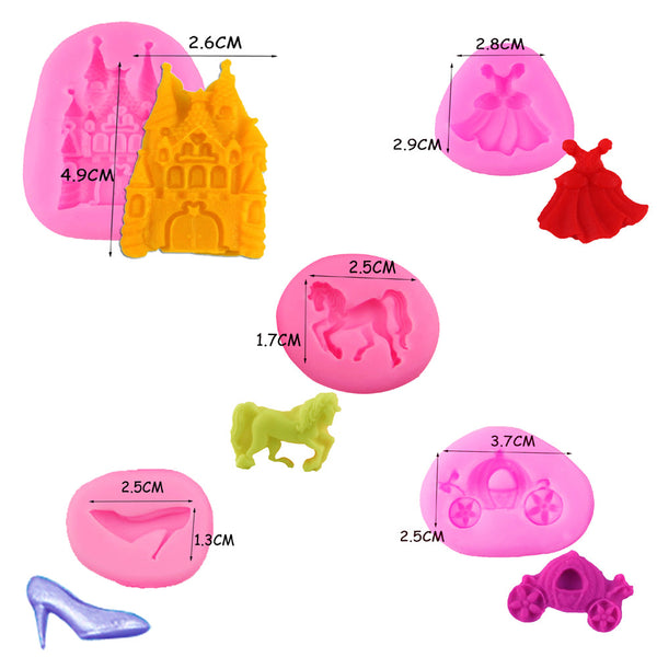 Princess Set Silicone Mold (7130123783)