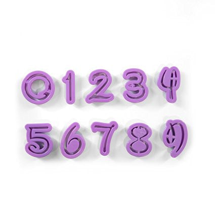 Cartoon Style Alpha Numeric Cutter Set