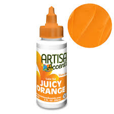 JUICY ORANGE Artisan Accent Gel Color