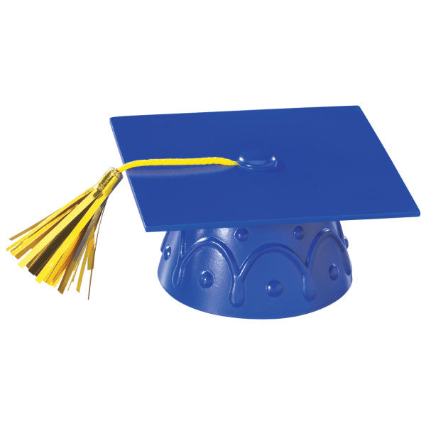 BLUE GRAD CAP With Tassel Topper