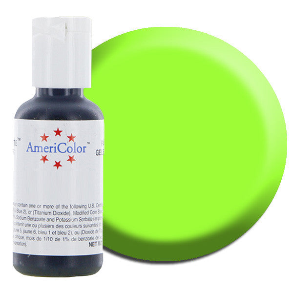 Americolor Electric Green Soft Gel Paste Food Color .75 oz (4414406855)