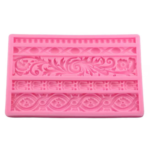 Fancy Borders Silicone Mold