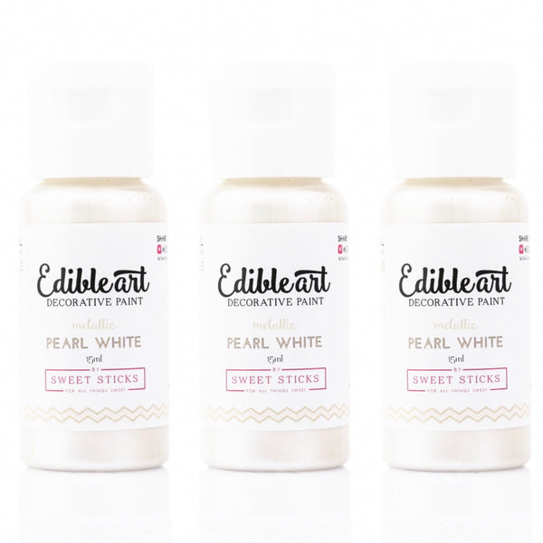 Edible Art Decorative Paint - PEARL WHITE 15ml