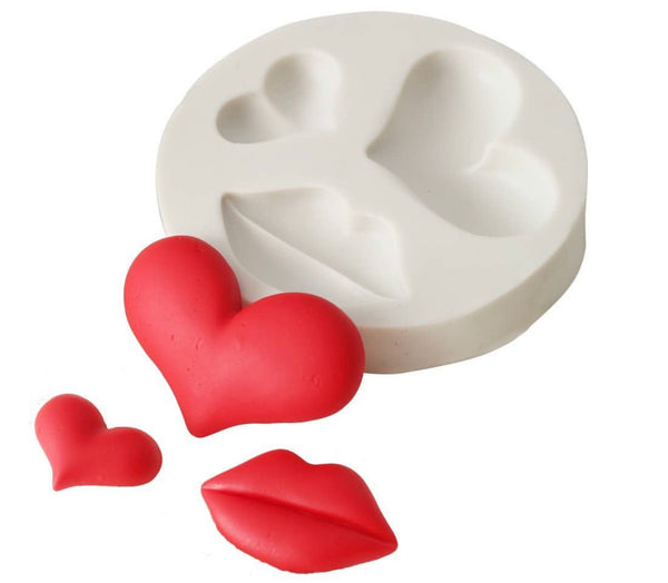 HEARTS & LIPS Silicone Mold