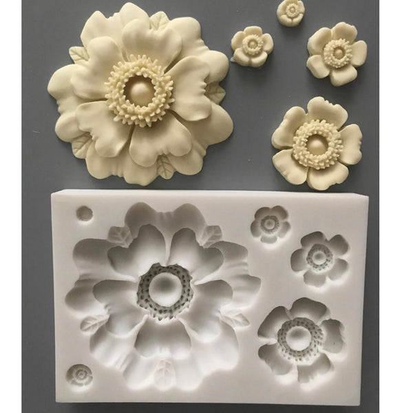 Large Flower Collection Mold