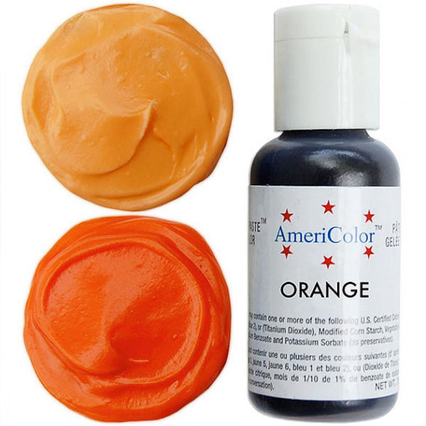 Americolor Orange Soft Gel Paste Food Color .75 oz