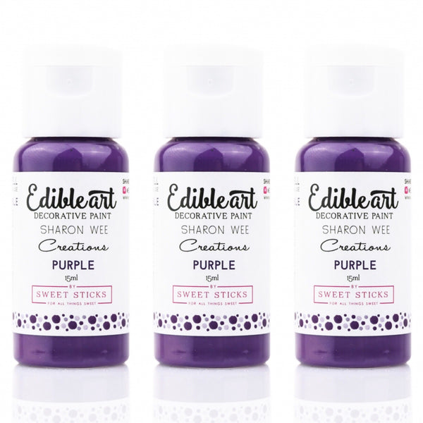 PURPLE Edible Art Decorative Paint 15ml