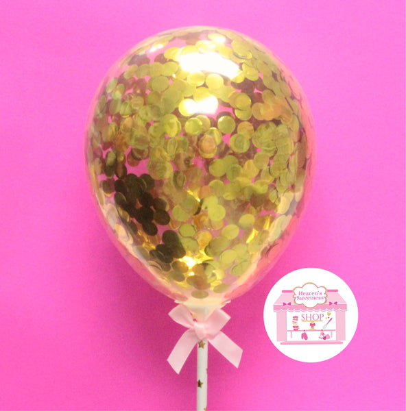 Confetti Balloon Cake Topper | GOLD