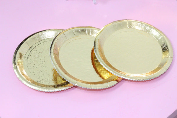 Gold Fancy Plates 10 Pack