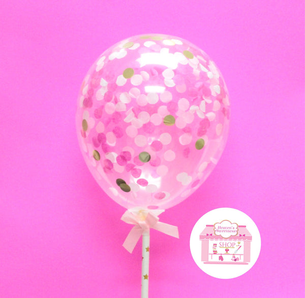 Balloon Cake Topper | PINK + GOLD