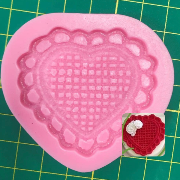 LACE HEART Silicone Mold