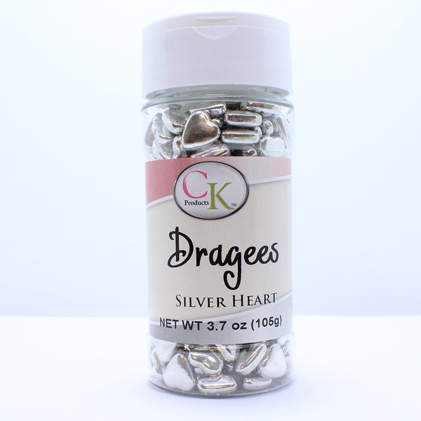 Silver Hearts Dragees 3.7 oz.