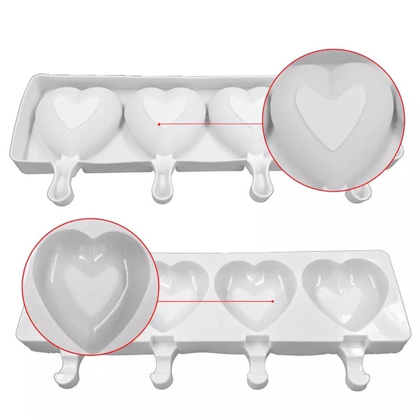 POPSICLE Heart Silicone Mold