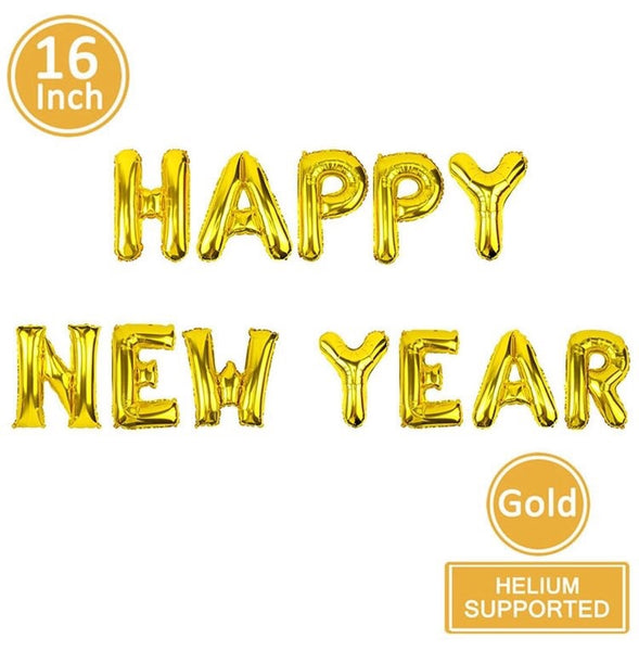 Happy New Year Gold Foil Balloon