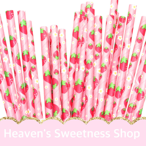Paper Straws - Strawberry Shortcake 25PK