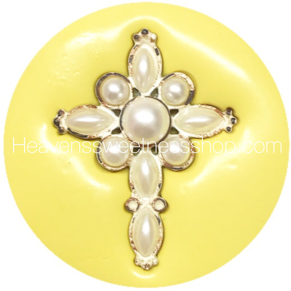 HS Yellow Collection - Beaded Cross Mold