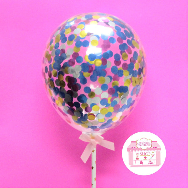 Confetti Balloon Cake Topper | RAINBOW