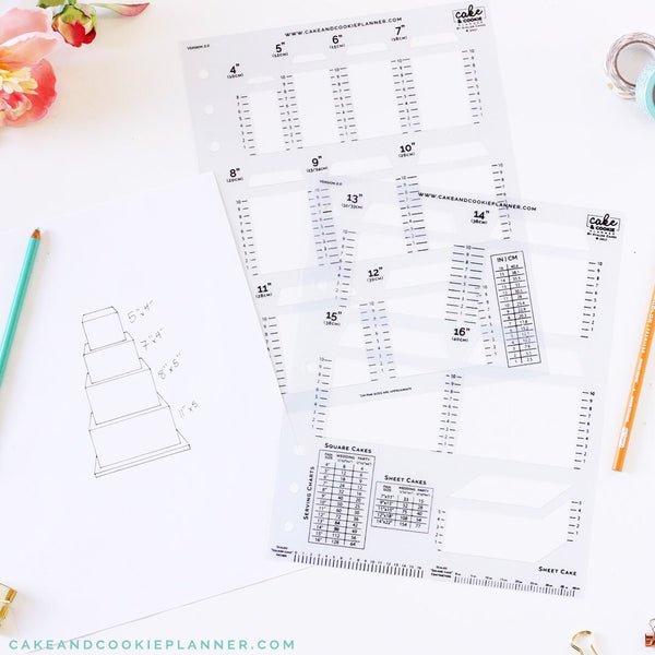 NEW! Square Cake Sketching Templates