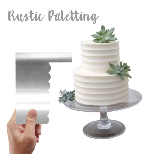 Buttercream Scraper | Rustic Palett Finish