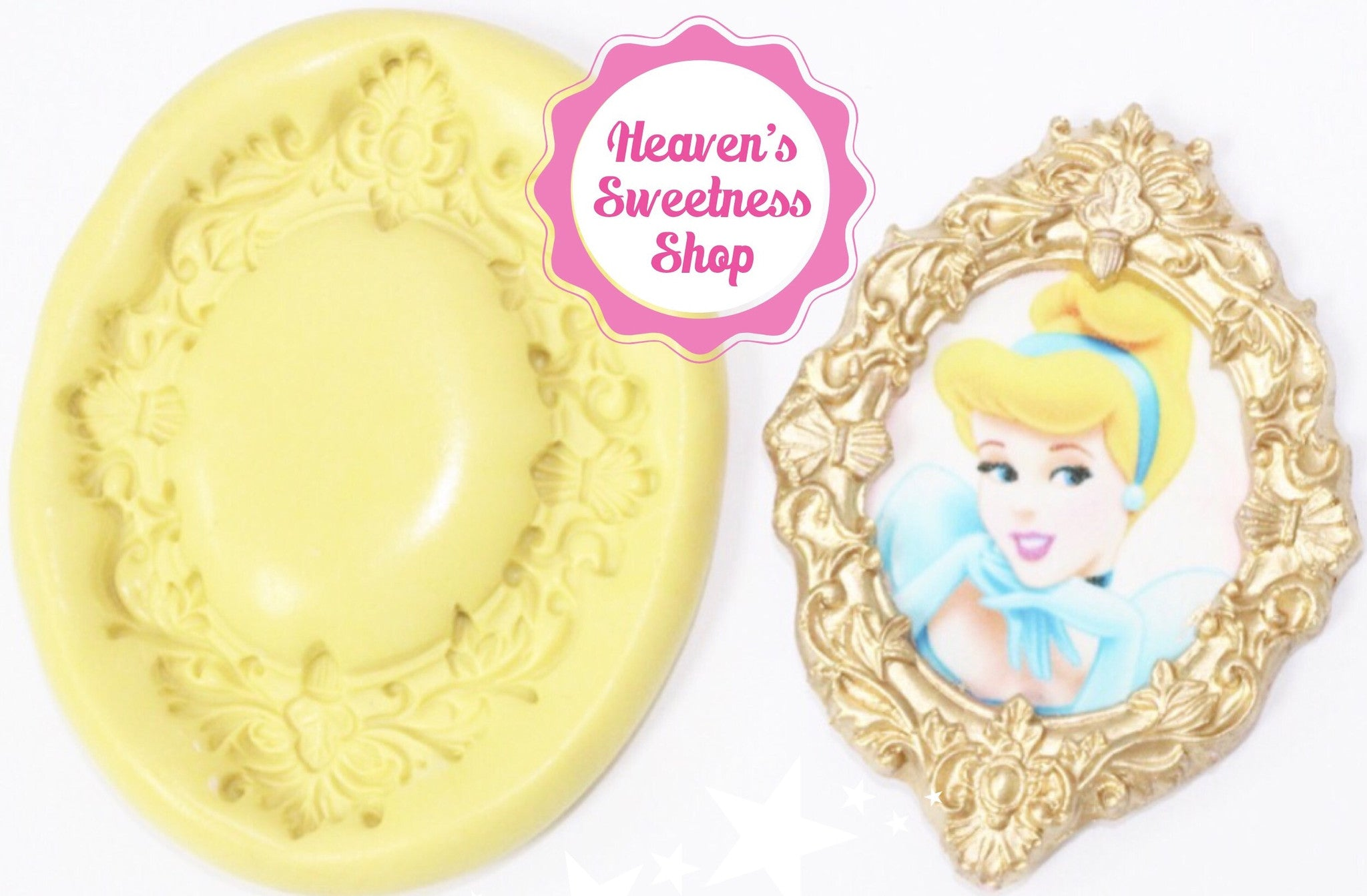 ccc7ae6a4f HS Yellow Collection - Fancy Princess Mirror Frame - Heaven's ...