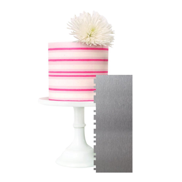 Two Sided Cake Scraper | Mixed Stripes