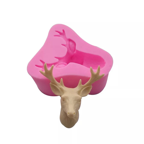 3D REINDEER HEAD Silicone Mold
