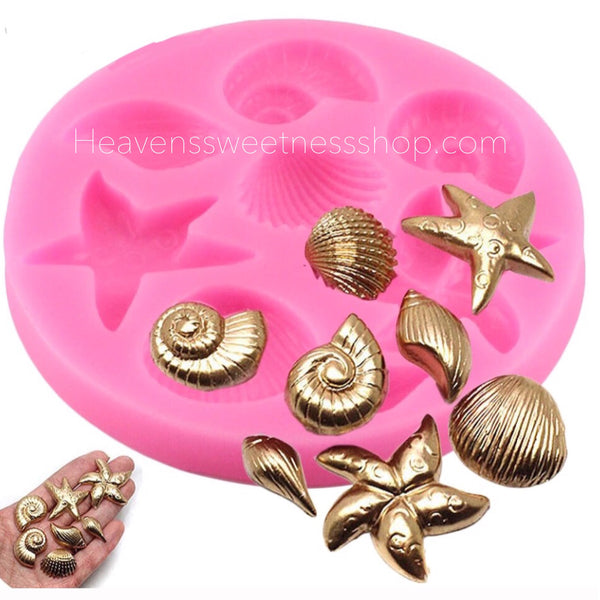 Small Sea Shell Collection Silicone Mold