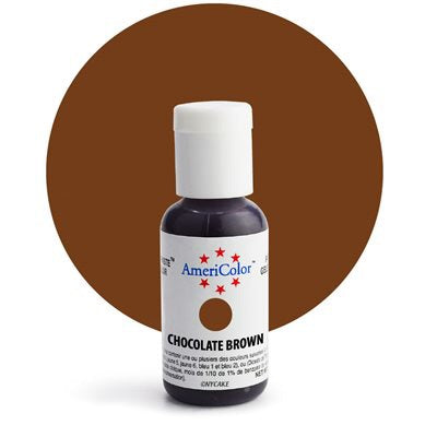 Americolor Chocolate Brown Soft Gel Paste Food Color .75 oz