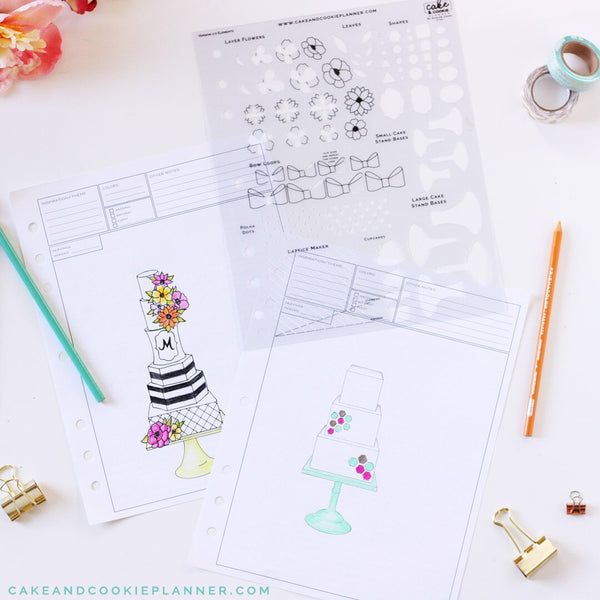NEW! Cake Elements Sketching Templates