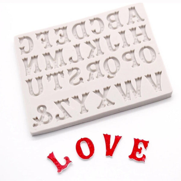 ZEBRA ALPHABET LETTERS Silicone Mold