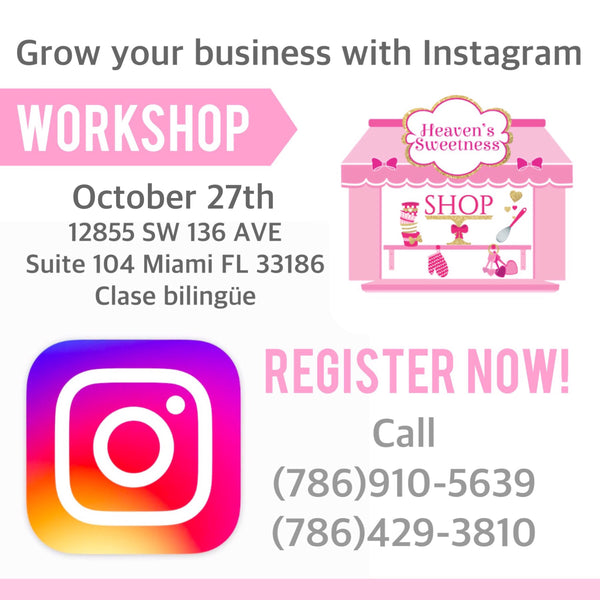 Grow your Business with Instagram Workshop October 27th