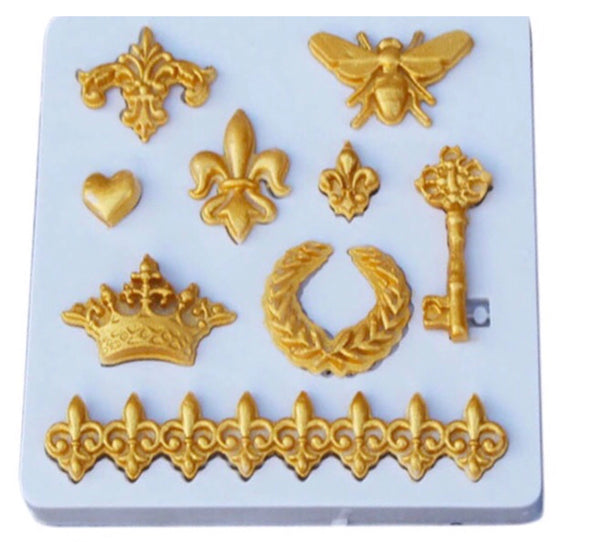 Fleur De Lis Collection Silicone Mold