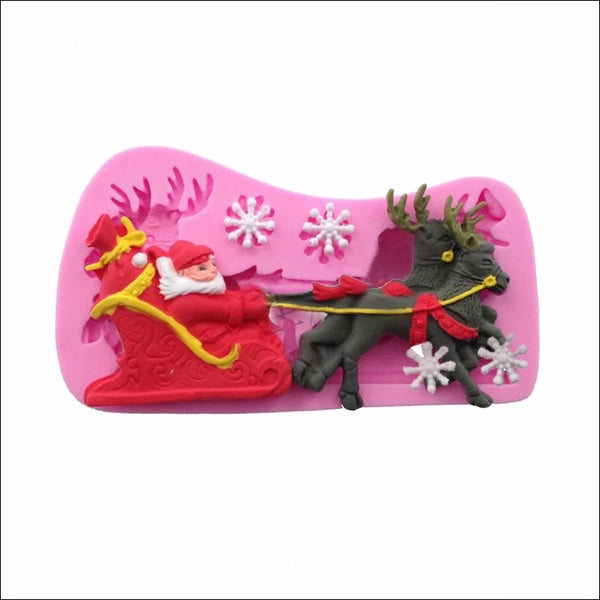 REINDEER SLEIGH Silicone Mold