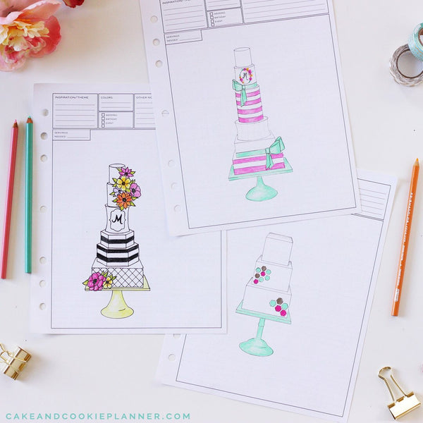 NEW! Round Cake Sketching Templates