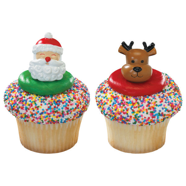 CHRISTMAS CUPCAKE Toppers 8Piece Pack