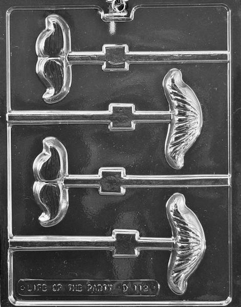 MUSTACHE ASSORTMENT LOLLY Chocolate Mold (4334057543)