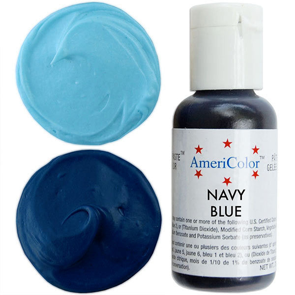 Americolor Navy Blue Soft Gel Paste Food Color .75 oz - Heaven\'s ...