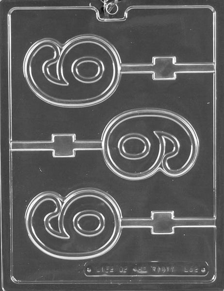 Number #6 Lolli Chocolate Mold
