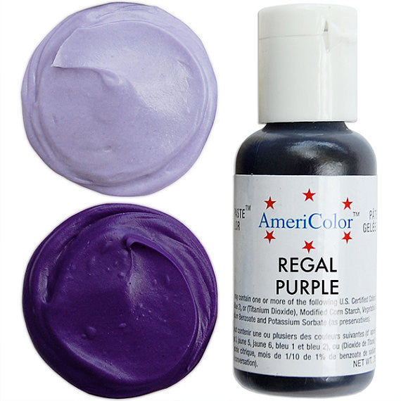 Americolor Regal Purple Soft Gel Paste Food Color .75 oz - Heaven\'s ...