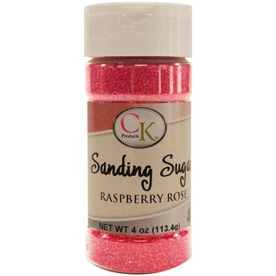 Raspberry Rose Sanding Sugar 4oz.