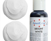 Americolor Bright White Soft Gel Paste Food Color .75 oz (4423410951)