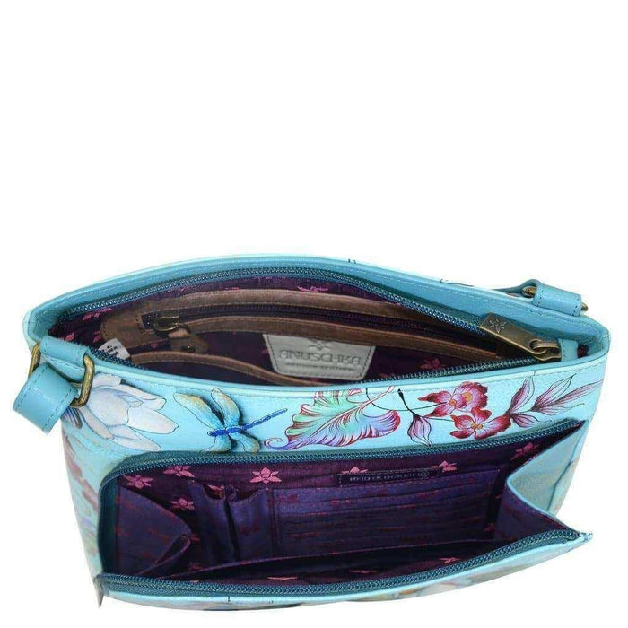 Jardin Bleu Crossbody With Front Zip Organizer