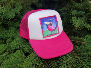 Pink Bird Little Henry Trucker Hat