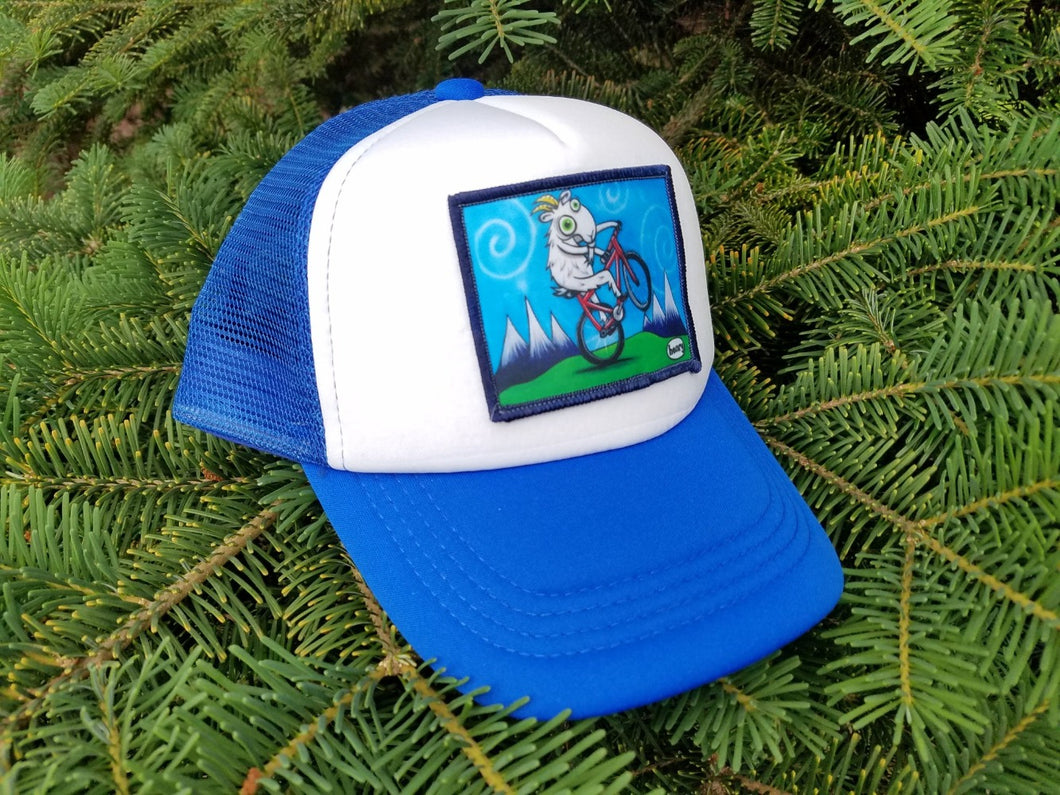 Goat Biking Little Henry Trucker Hat