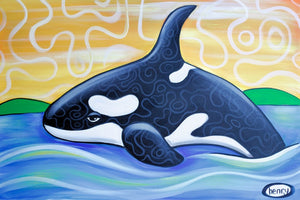 Orca Canvas Print - Art of Henry