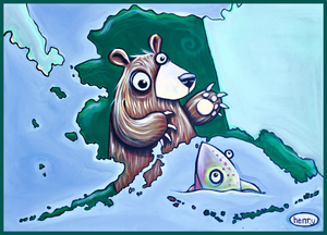 Alaska Map Sticker - Art of Henry